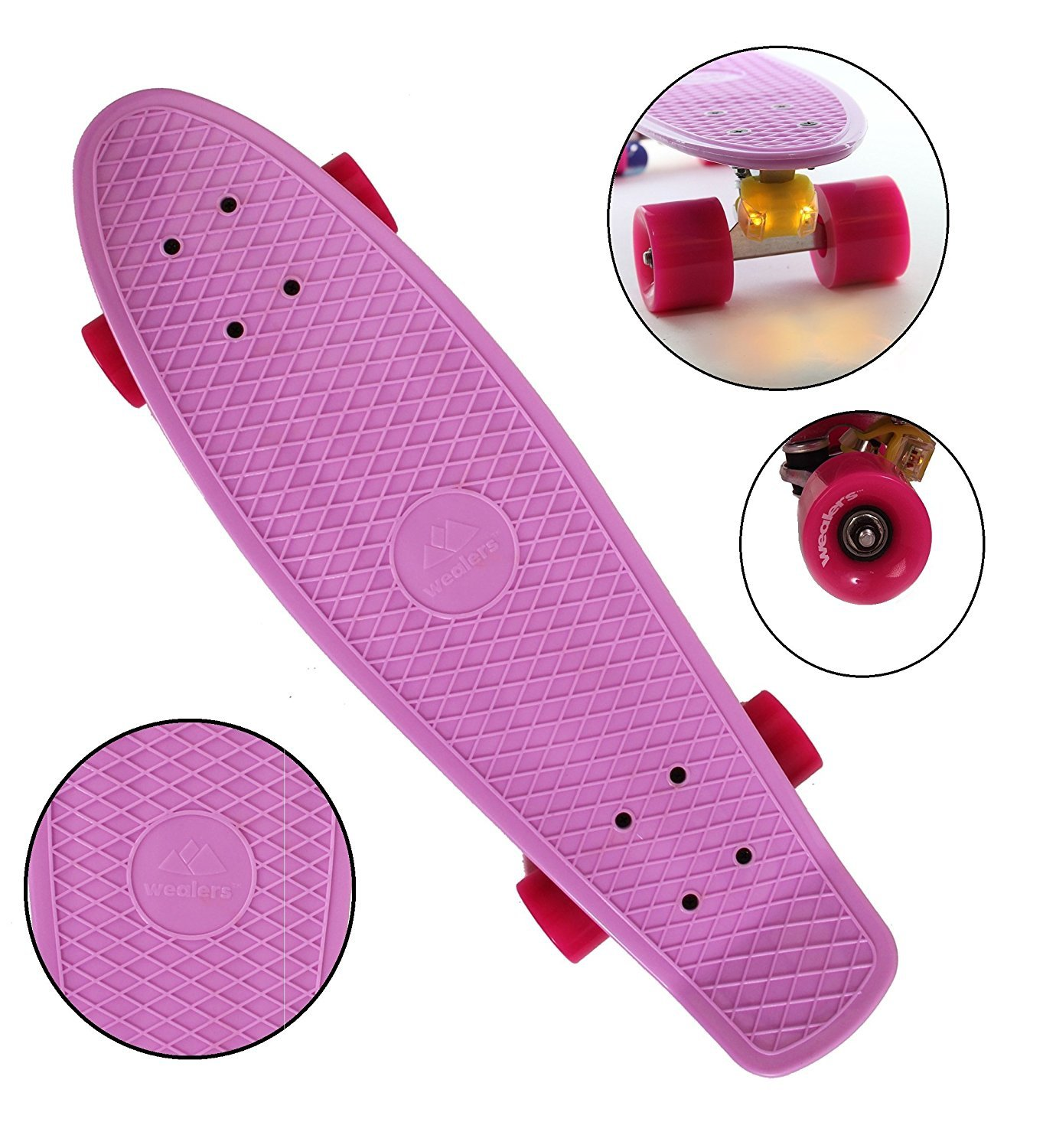 """Complete Cruiser Skateboard For Boys And Girls With Super Smooth Pu Wheels, High Speed Bearing, 27"""" Inch Longboard... by"""