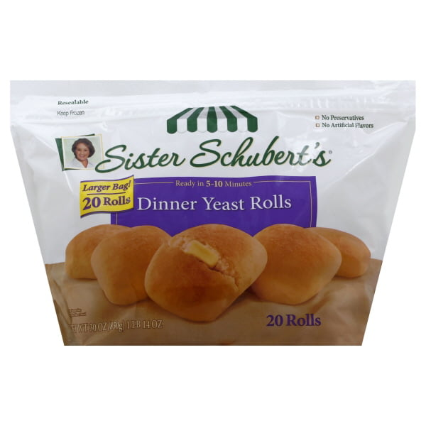 Sister Schubert S Dinner Yeast Rolls 20 Count 30 Oz Walmart