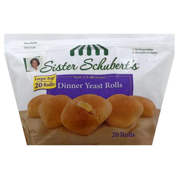 Sister Schubert S Dinner Yeast Rolls 20 Count 30 Oz Walmart
