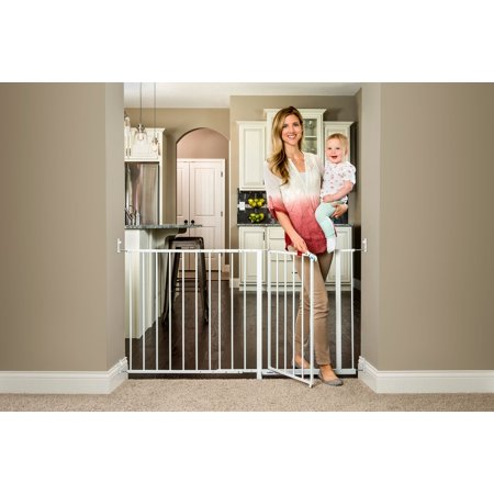 Regalo Maxi Super Wide Walk Thru Baby Gate White