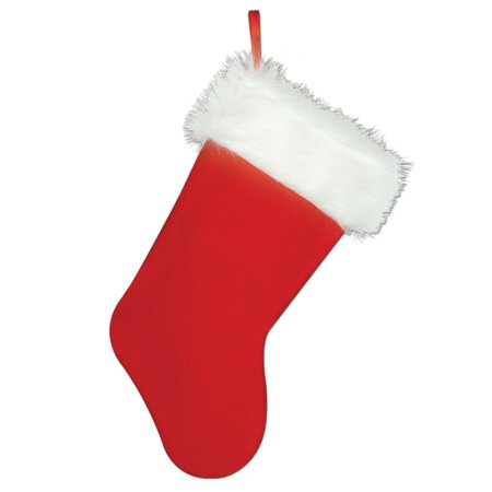 club pack of 12 traditional style plush red and white christmas stockings 15 - Red And White Christmas Stockings