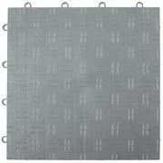 "VEVOR Garage Tiles Interlocking 12""x12"" Garage Floor Covering Tiles 50-Pack Silver Diamond Plate Garage Flooring Tiles Slide-Resistant Modular Garage Flooring 55000 lbs Capacity for Basement Gym"