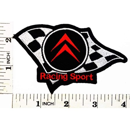 4 Inches Team Patch (Citroen Racing Sport Cars Team patch Symbol Jacket T-shirt Embroidered Patch 4 x 2.5 x 0.2 inches Logo Sew Ironed On Badge Embroidery Applique)