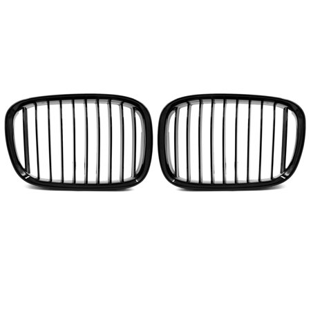 2pcs Glossy Black Front Kidney Grille Grill for 1997-2003