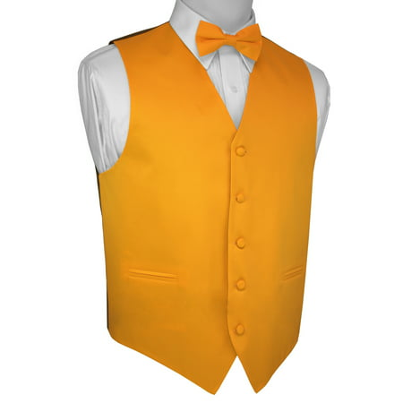 Italian Design, Men's Tuxedo Vest, Bow-tie - Yellow - Yellow Tuxedo