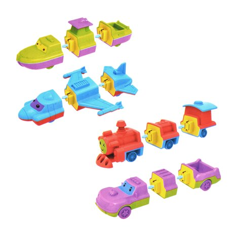 New Construction Air - Creative Magnetic Construction Fun for Air Sea Land Vehicles (4PCS) with Music and Light