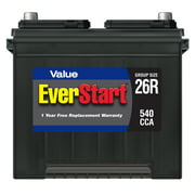 EverStart Value Lead Acid Automotive Battery, Group Size 26R