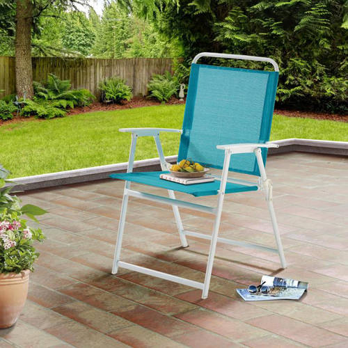 Mainstays Pleasant Grove Sling Folding Chair, Teal