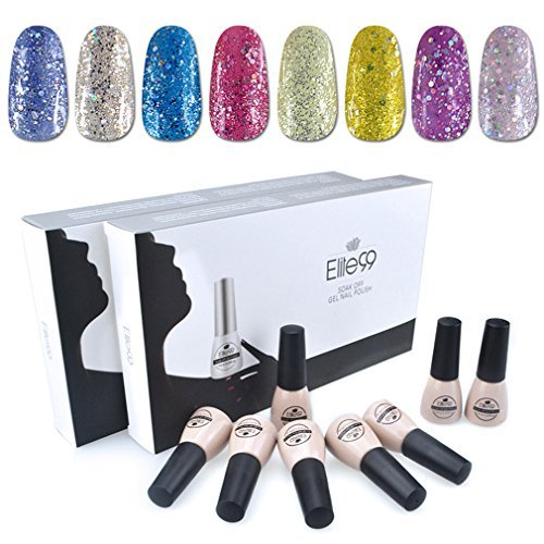 Elite99 Soak Off UV LED Gel Nail Polish 8 Colors Lacquer Manicure Pedicure Nail Art Decoration C012