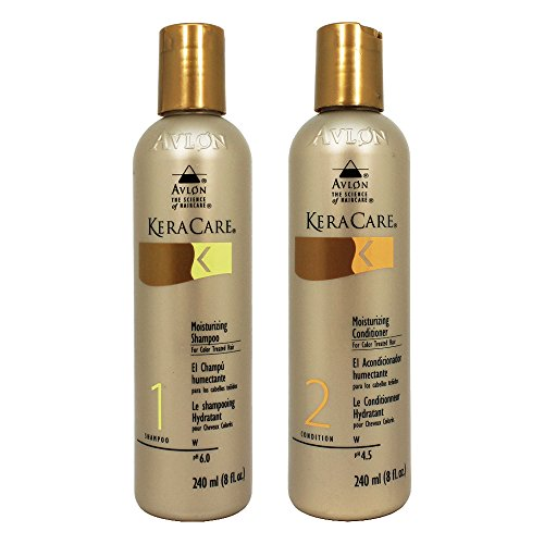 KeraCare Moisturizing Shampoo for Color Treated Hair 8 oz & KeraCare Moisturizing Conditioner for Color Treated Hair 8 oz Combo Set