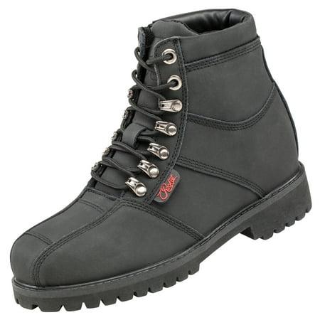 Ladies Western Black Leather Boots - Joe Rocket Rebellion Womens Black Leather Boots