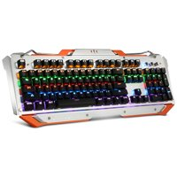 Mechanical Keyboard, MAD GIGA K360 Gaming Mechanical Keyboard with LED Backlit, Adjustable Brightness and Speeds, USB Wired computer keyboard for Windows PC Gamers