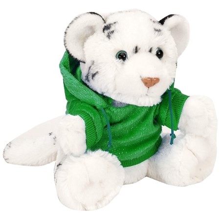 Wild Republic Holiday Hoody CK White Tiger Plush - White Tiger Plush