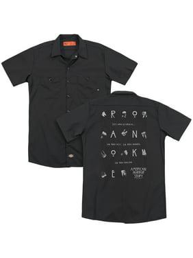 American Horror Story - Chatter Box (Back Print) - Work Shirt - XXX-Large