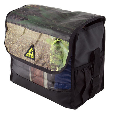 Green Guu Carbon Cooler Pannier, 13x13x8in, Multi