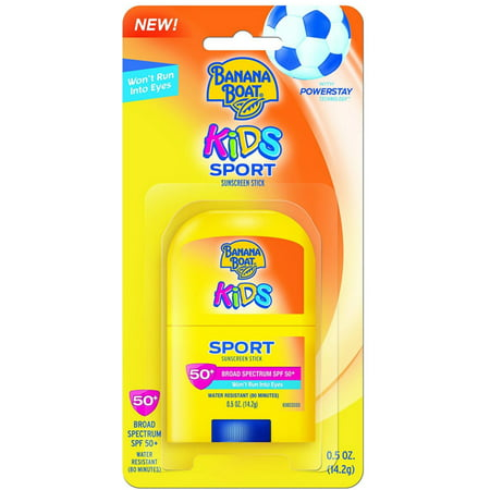 4 Pack - Banana Boat Kids Sport Broad Spectrum Sunscreen Stick with SPF 50 0.50 oz (Banana With Dreads)