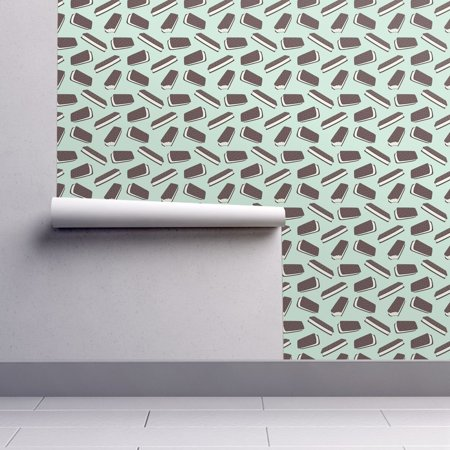 Removable Water-Activated Wallpaper Ice Cream Mint Ice Cream Ice Cream Mint
