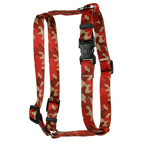 Yellow Dog Design Camo Red Roman Style H Dog Harness Large