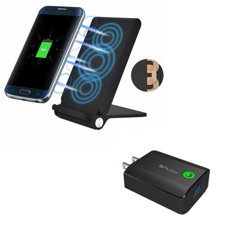 10W Fast Charge Wireless Charger Folding Pad w 18W Adaptive Fast Home Wall Plug Travel USB Charger Z6V for LG Google Nexus 5 4, G8 ThinQ, G7 ThinQ - Motorola Droid Turbo, Google Nexus 6,