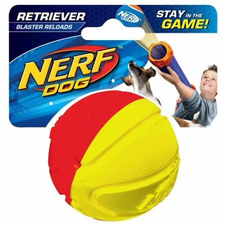 Nerf Dog 3072 TPR-Foam Squeak Basketball, Pet Squeak Toy (Basketball Dog Toy)