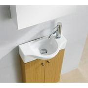 Fine Fixtures  Glenwood 17-inch Wood Yellow Oak/ White Bathroom Vanity