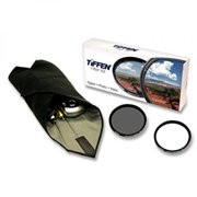 tiffen 77mm lens kit includes digital ultra clear filter, plus circular polarizer filter and accesso