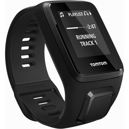 TomTom Spark 3 Music Bundle GPS Fitness Watch, Large, Black
