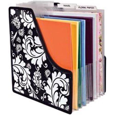 452786 Cropper Hopper Projections Expandable Paper Holder-13.5 in. x 14.25 in. x 1 in.   Expands To 9 in.