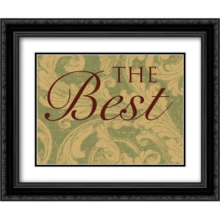 The Best Way A 2x Matted 24x20 Black Ornate Framed Art Print by Grey, (Best Way To Cover A Few Grey Hairs)