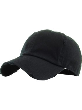 Washed Solid Vintage Distressed Cotton Dad Hat Adjustable Baseball Cap Polo Style