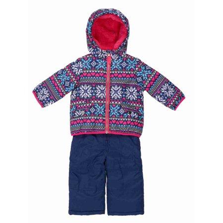 67ebe0280f84 Carters - Carters Infant Girls Blue Snow Bibs   Winter Coat Set ...