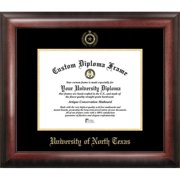 University of North Texas Gold Embossed Diploma Frame