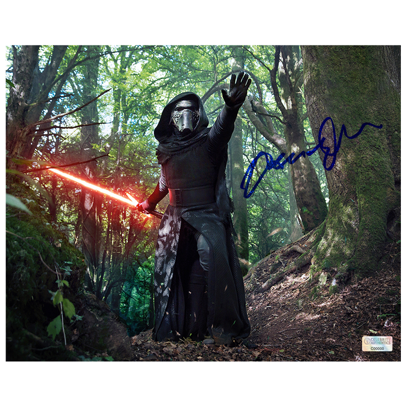 Adam Driver Autographed Star Wars: The Force Awakens 8?10 Kylo Ren in the Forest of Takodana Photo