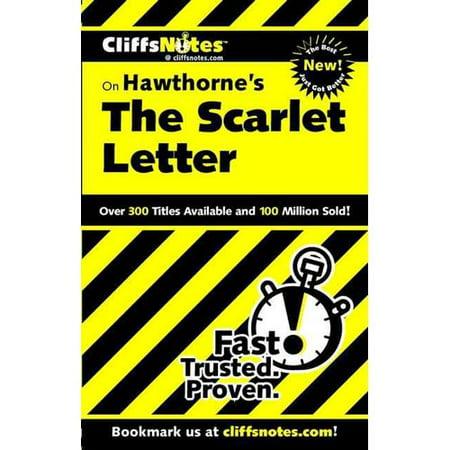 cliffsnotes on hawthornes the scarlet letter   walmartcom
