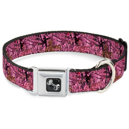 Buckle Down 11 17  Hunting Camo Pinks Dog Collar Bone  Medium  Your Dog Will Be The Talk Of The Town When People Notice Theyre Wearing This Awesome    By Buckle Down