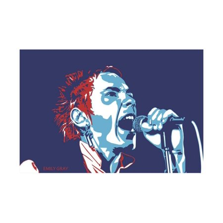 b7760ee419 Johnny Rotten - God Save the Queen Print Wall Art By Emily Gray ...