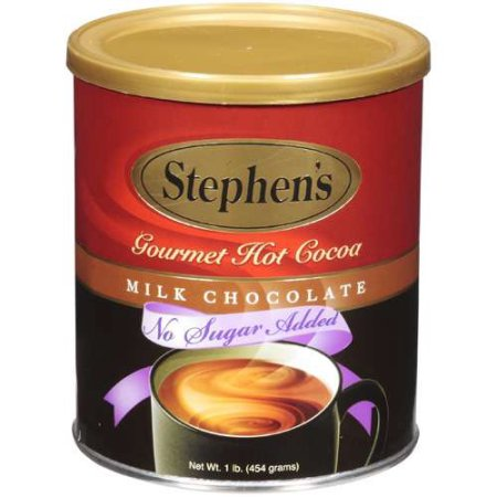 Stephen's Gourmet No Sugar Added Milk Chocolate Hot Cocoa, 1 Lb (Pack of 2)