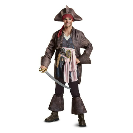 Pirates of the Caribbean 5 Jack Sparrow Deluxe Men's Adult Halloween Costume