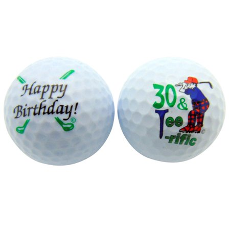 (Happy 30th Birthday Thirty & TeeRiffic Set of 2 Golf Ball Golfer Gift Pack)