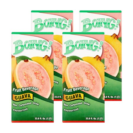 (4 Pack) Boing! Juice, Guava, 33.8 Fl Oz, 1 Count