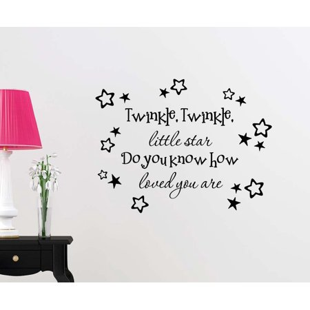Wall Vinyl Decal Le Little Star Do You Know How Loved Are Stars Nursery