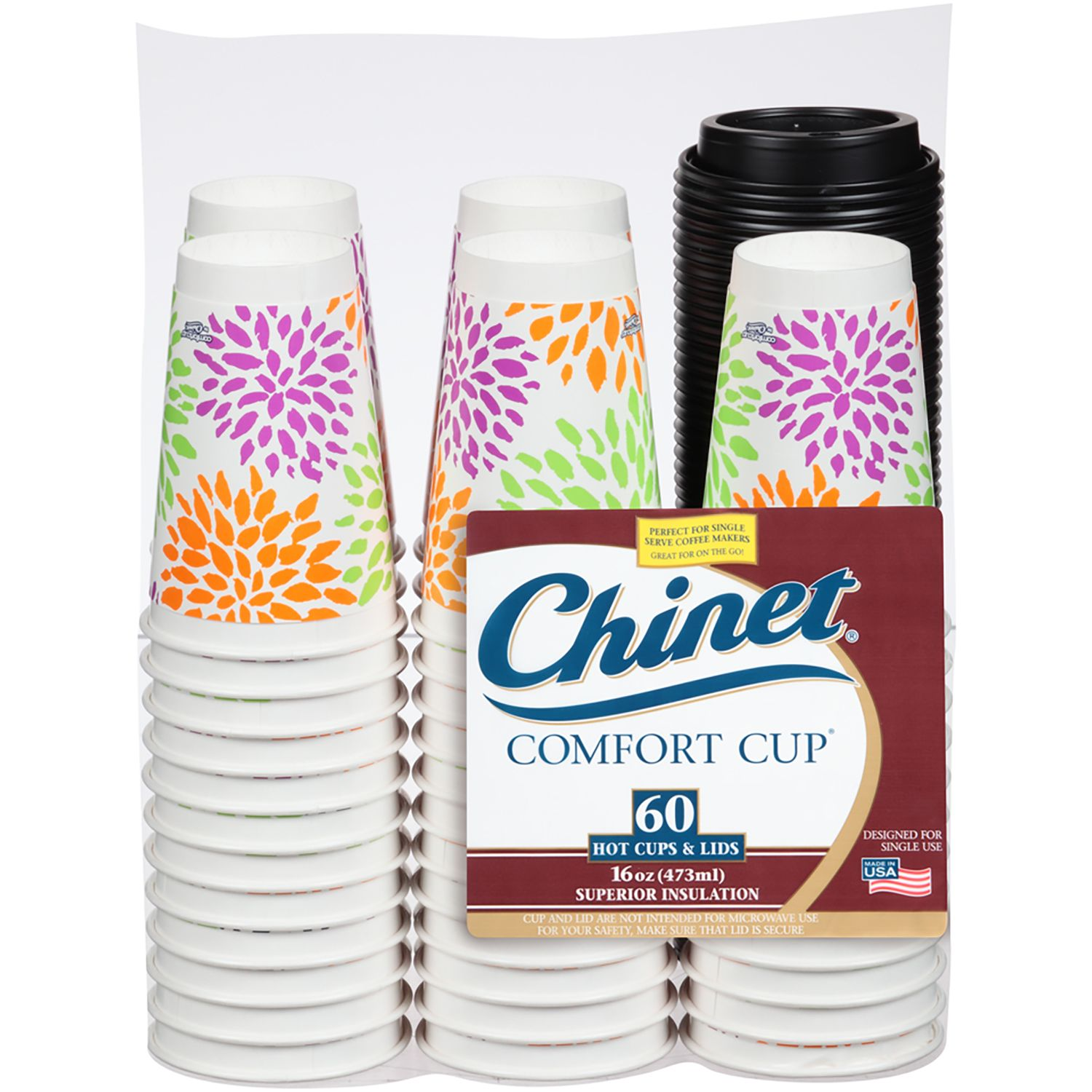 Chinet Comfort Cup and Lids - 60 ct. each