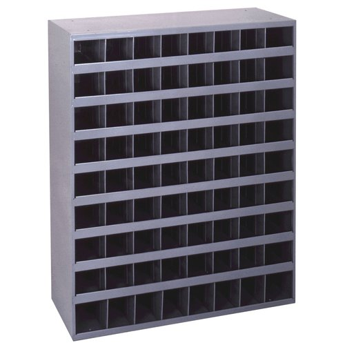 "Durham 350-95 Cold Rolled Gray Steel 72 Opening Bin, 33-3/4"" Width x 42"" Height x 8-1/2"" Depth"