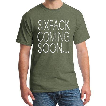 Halloween Coming Soon (Men's Six Pack Coming Soon... Military Green C4 T-Shirt X-Large Military)