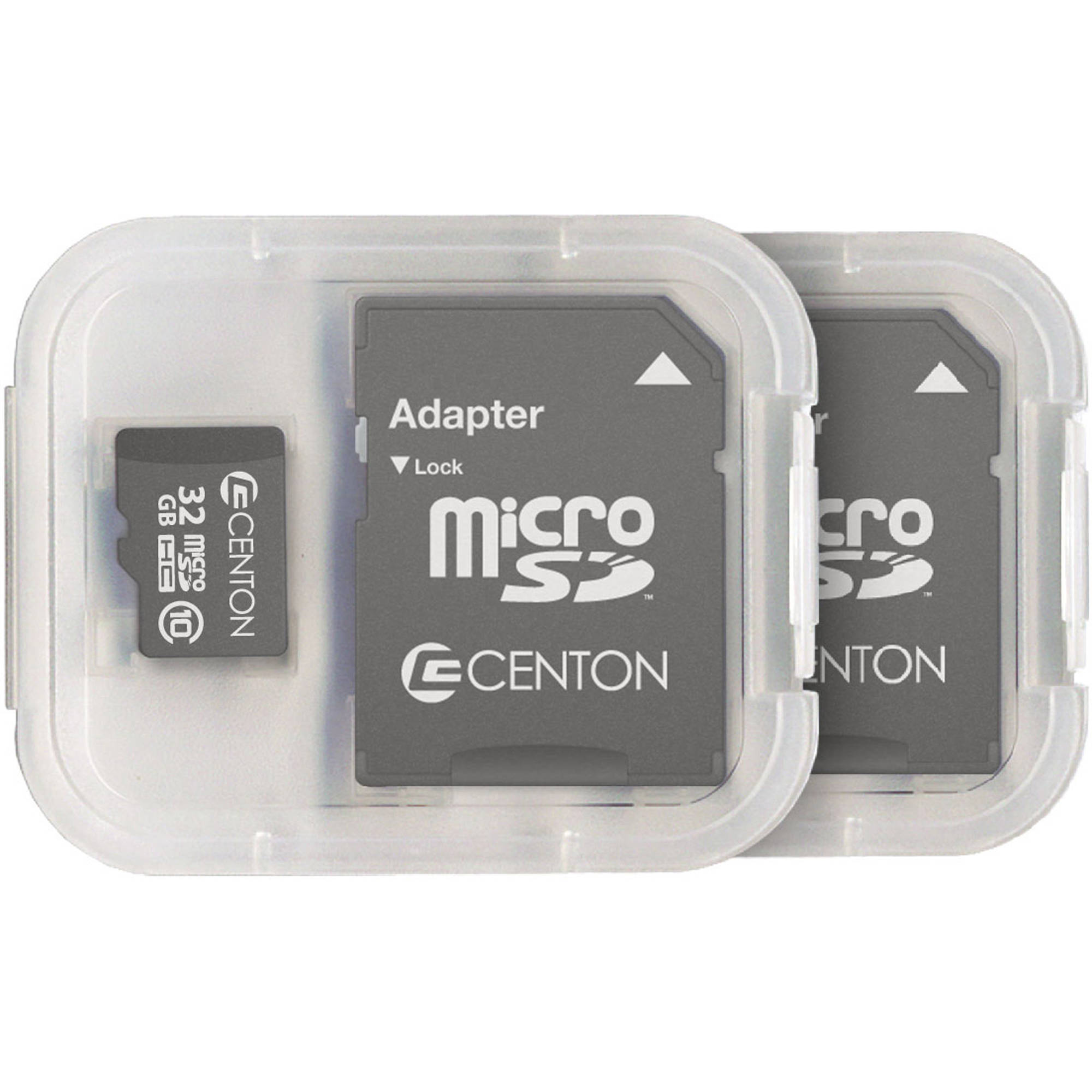 Centon MP Essential 32GB Class 10 microSDHC Card, 2pk