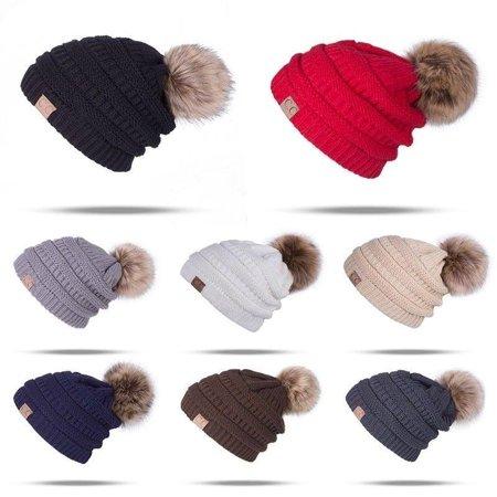 3d21252e409e4a Freshlook - Bubble Knit Slouchy Baggy Beanie Oversize Winter CC Hat Ski  Slouchy Cap Skull Women - Walmart.com