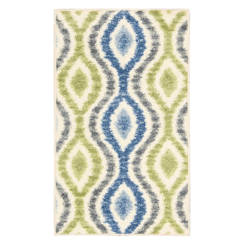"Nourison Waverly Aura of Flora Polyester Scribble Runner Rug, 2'3"" x 7'6"""