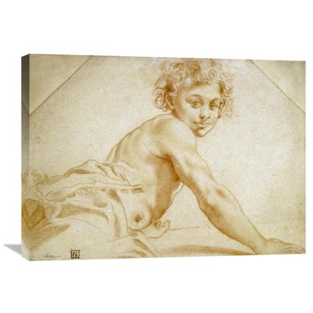 Bag Gallery (Global Gallery 'A Boy Looking Over His Shoulder' by Annibale Carracci Painting Print on Wrapped)