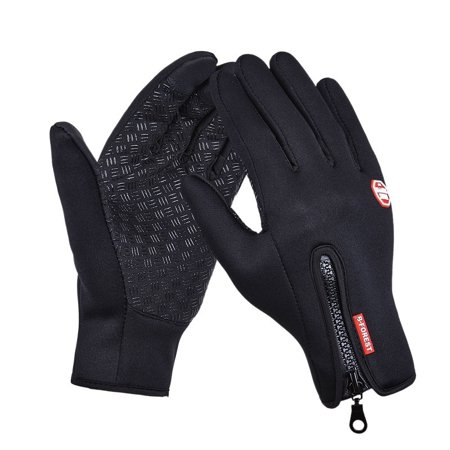 U-MAX Warm Fleece Windproof Outdoor Sports Gloves Magic Touch Screen Gloves Waterproof Motorcycle Cycling Mountaineering Skiing