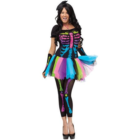 Funky Punk Bones Adult Halloween Costume - 80s Punk Rocker Costume